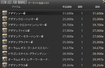 新生14 602日目 マーケットへ出品01