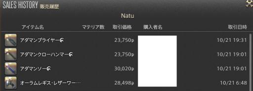 新生14 604日目 販売履歴