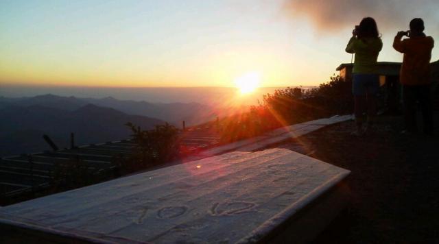 10月12日初霜の大霜です。朝の気温0℃