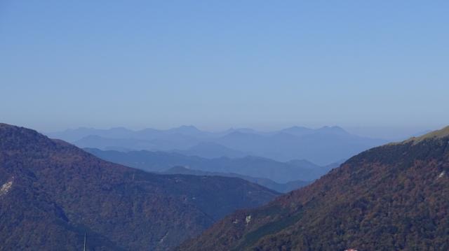 石鎚山が見えている