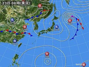 23日天気図