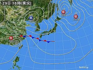29日天気図