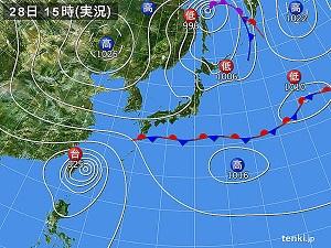 28日天気図