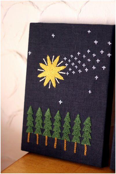 クリスマスパネル 星とモミの木