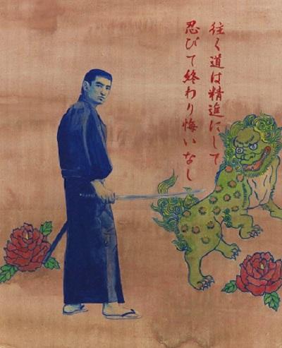 アクリル画「高倉健さん」