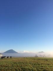 20150914 レイクヴィラファーム&雲海&羊蹄山^^)