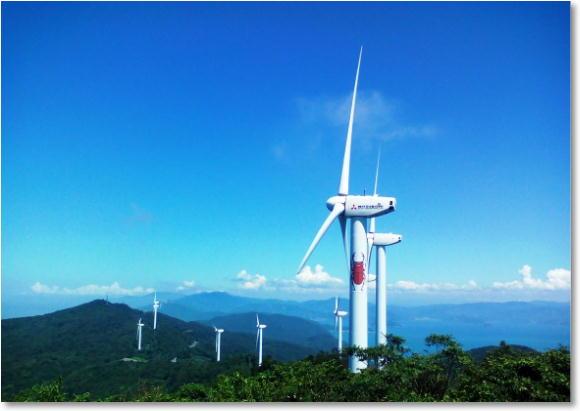 岬の風力発電