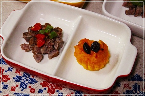 夕ご飯はお肉とお芋~