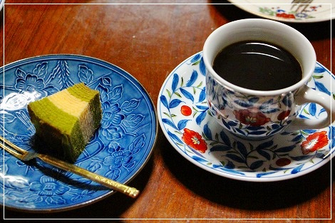 食後はお茶とコーヒーで^^