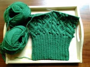 緑のニット帽子