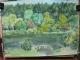今日の女神湖を描いた絵