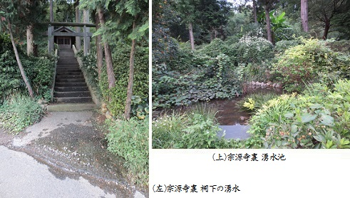 b0919-11 宗源寺裏 祠下の湧水-湧水池