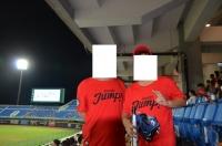 親子でLamigo赤Tシャツ150814