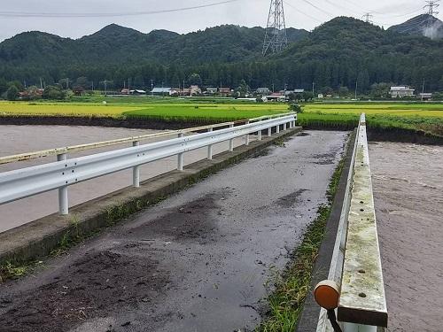 篠井地区 田川の被害!その1④