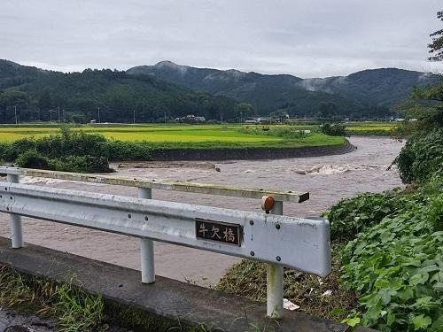 篠井地区 田川の被害!その1⑦
