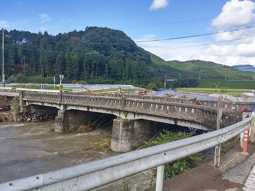 台風18号 災害<現地調査>!日光市小代地内 行川 赤行橋周辺①