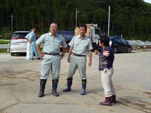 台風18号 災害<現地調査>!日光市小代地内 行川 赤行橋周辺⑤