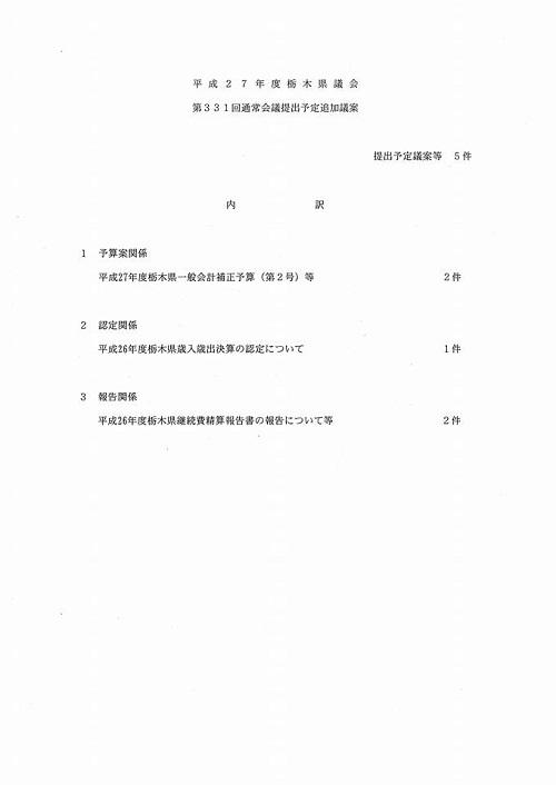 栃木県議会<予算特別委員会>総括質疑を担当します!③