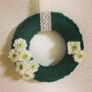 花編みリース1