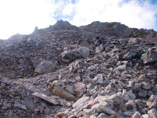 s05針ノ木岳への登り