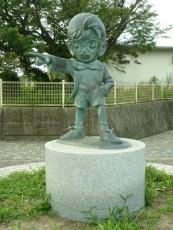 コナン君の銅像