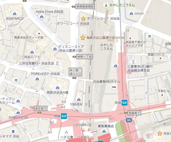 渋谷周辺地図