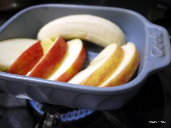 焼きフルーツ入フレンチトースト-フェリシモ耐熱プレート