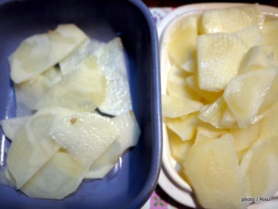 じゃが芋ミルフィーユ-フェリシモ耐熱プレート