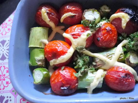 焼きサラダ-フェリシモ耐熱プレートレシピ