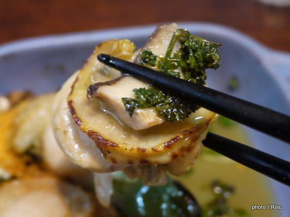 ホタテのアヒージョ-フェリシモ耐熱プレート料理