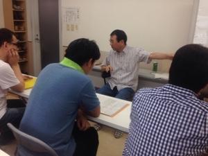 福井講師、本日の講義の流れを説明