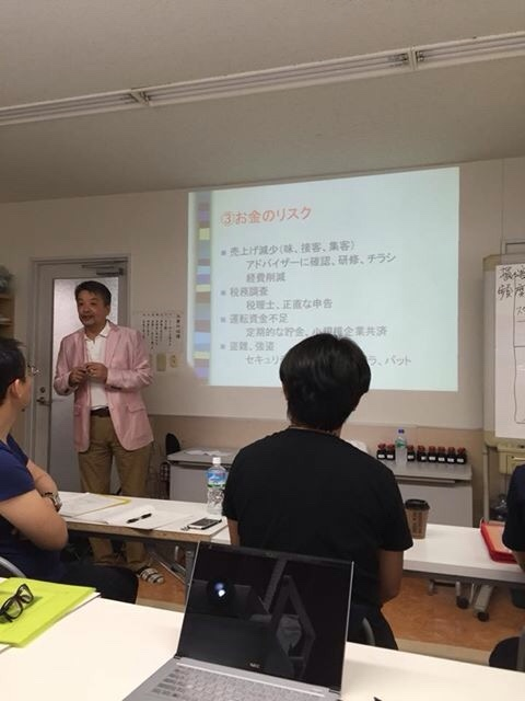 鳥居式らーめん塾 飯塚講師、リスクマネジメント講義