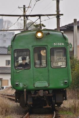 2015年2月17日 熊本電気鉄道菊池線 坪井川公園~打越 5000形5102A