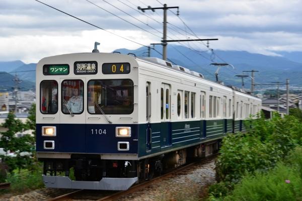 2015年8月25日 上田電鉄別所線 三好町~赤坂上 1000系1004編成