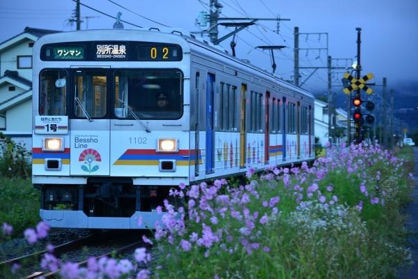 2015年9月18日 上田電鉄別所線 中野~舞田 1000系1002編成