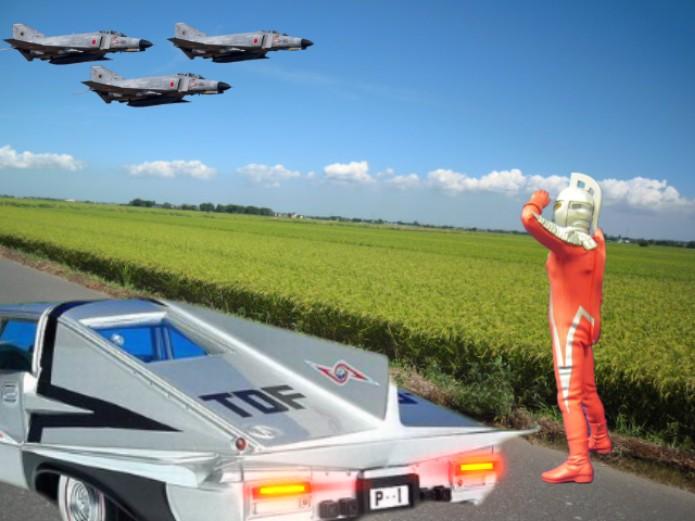 セブンとジェット機