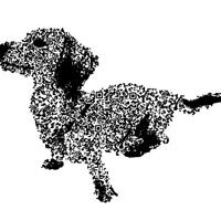 QRコード犬