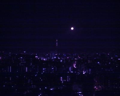 東京スカイツリーとスーパームーン:R2