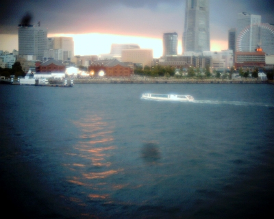 海を染めて・横浜港大さん橋:Entry