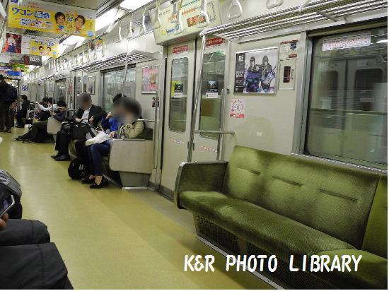 3月22日地下鉄空港線車内