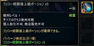 経験値ポーション×5
