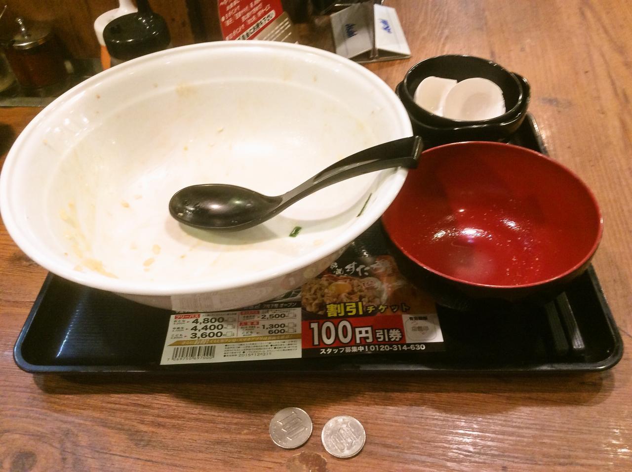 伝説のすた丼屋蒲田店(大盛りすた丼)