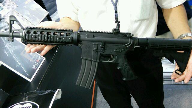 東京マルイ ガスブロ M4 試射