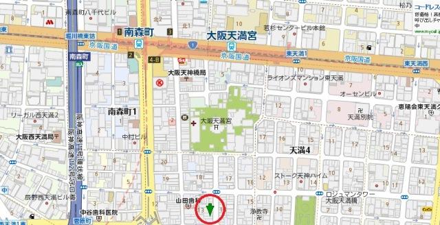 天神橋1丁目店舗地図