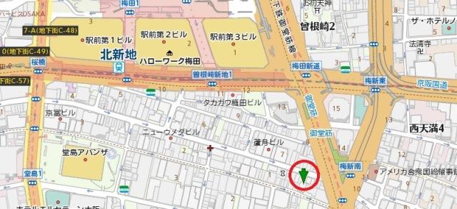 GOTS北新地ビル7号館地図