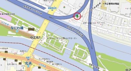 SQUARE北浜地図