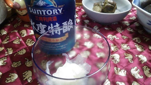 150910 中国のサントリービール&月下美人のお浸し ブログ用