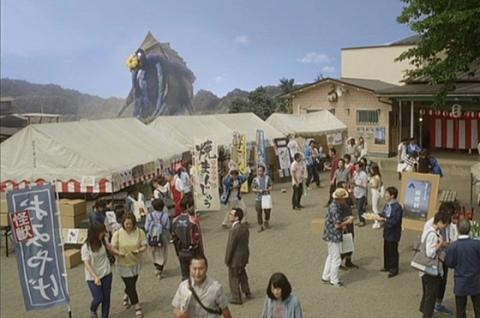 ホオリンガ目的で観光客を呼び込む坂根村