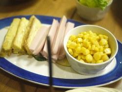コーン&魚肉ソーセージ&玉子焼き_s
