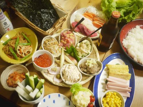 「3月のライオン」川本家の手巻き寿司